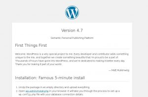 Default WordPress readme.html